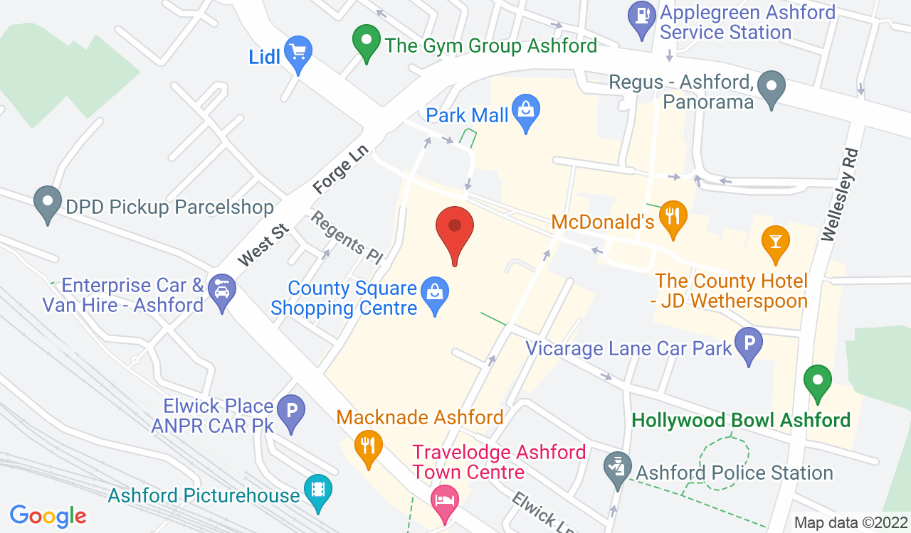 Google Map of BrightHouse, Ashford, UK