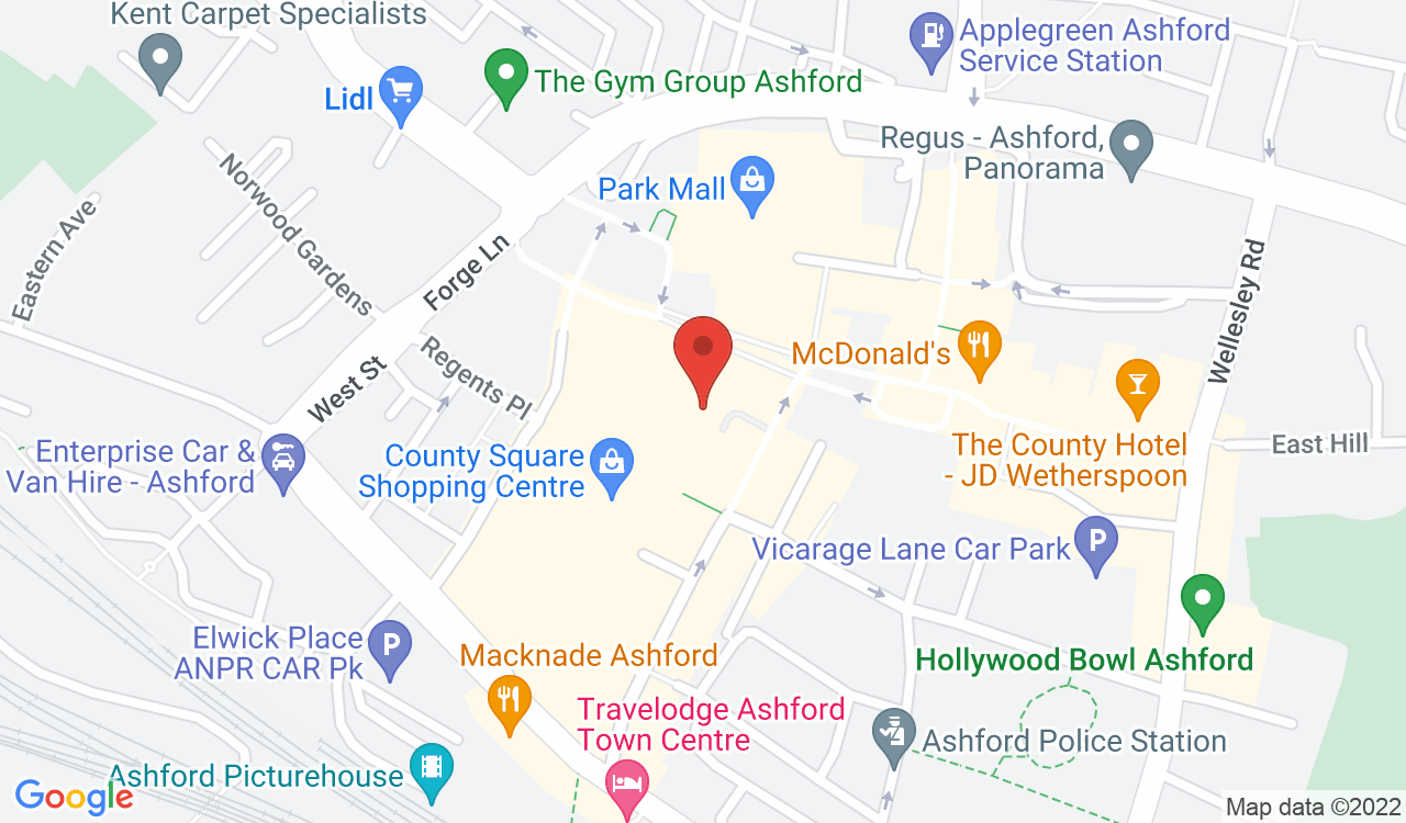 Google Map of Claire's, Ashford, UK