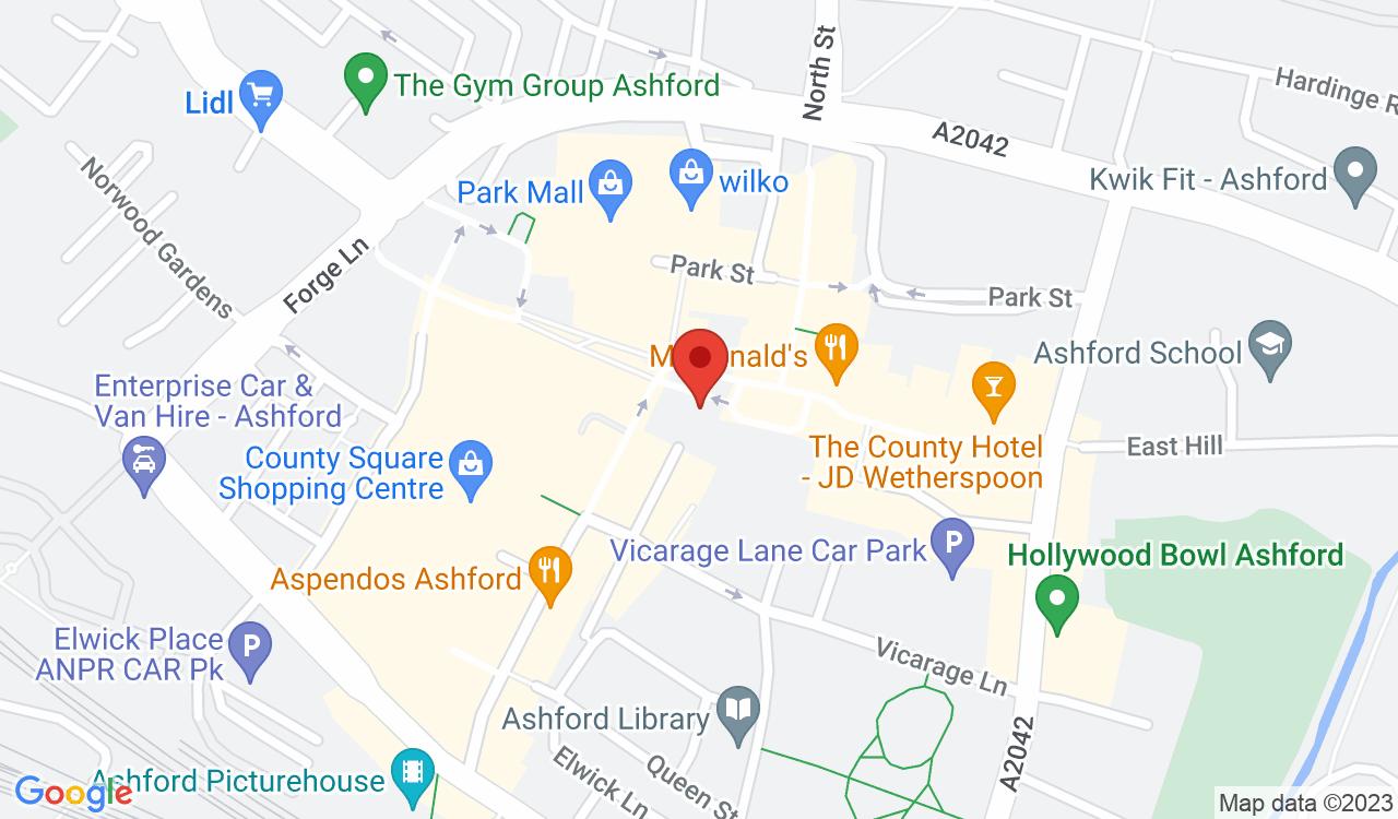 Google Map of Northwood, Ashford, UK