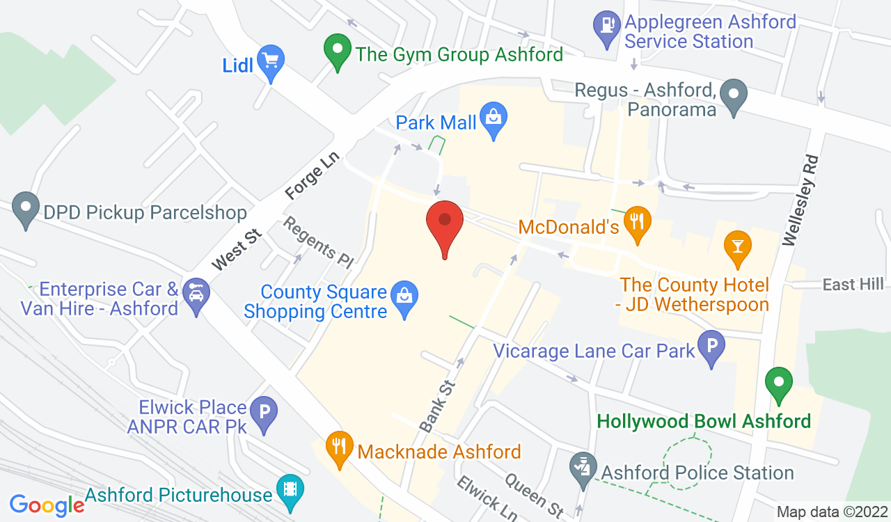 Google Map of The Fragrance Shop, Ashford, UK