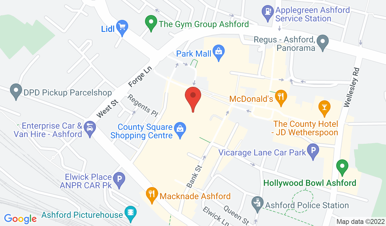 Google Map of Bonmarché, Ashford, UK