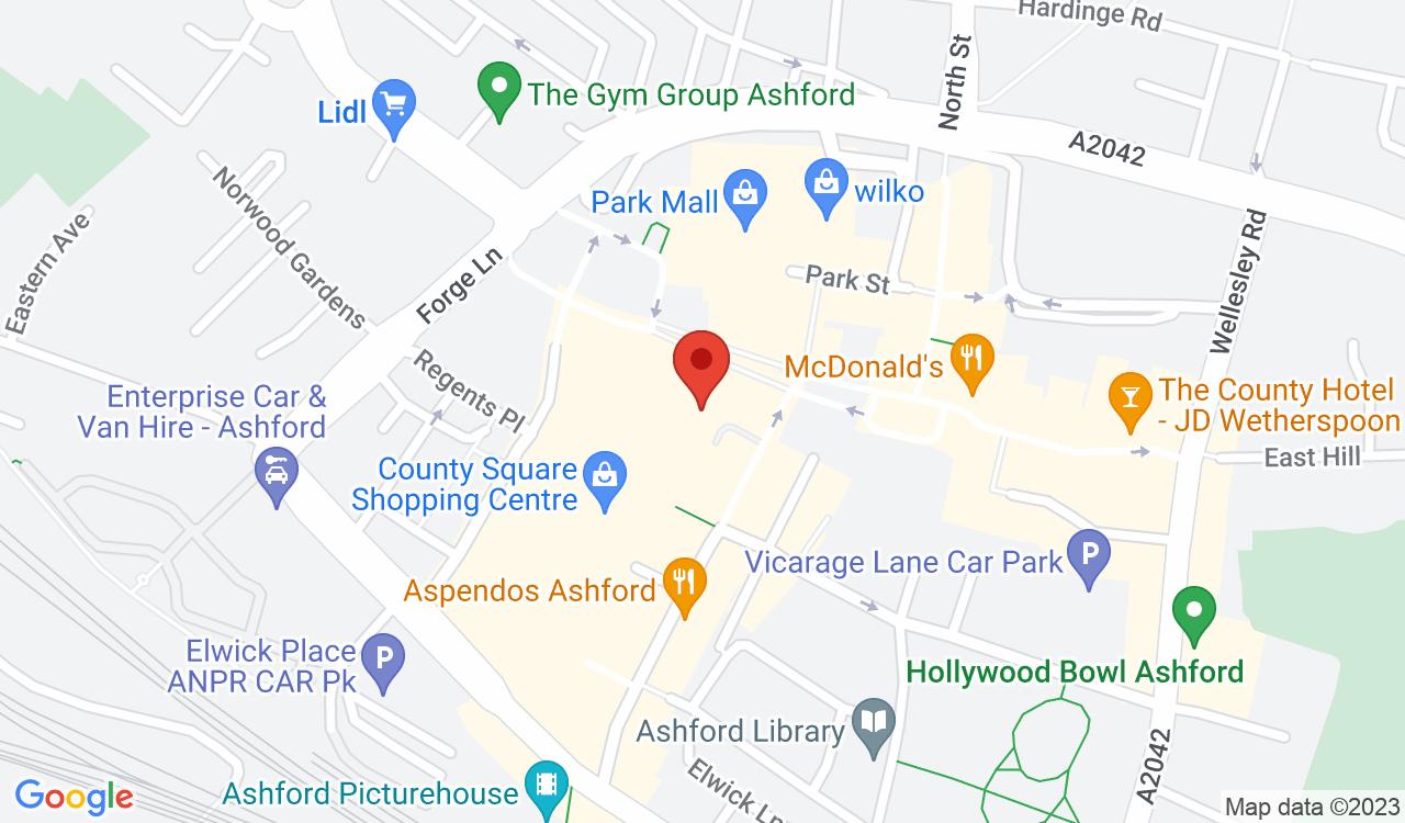 Google Map of Thomas Cook, Ashford, UK