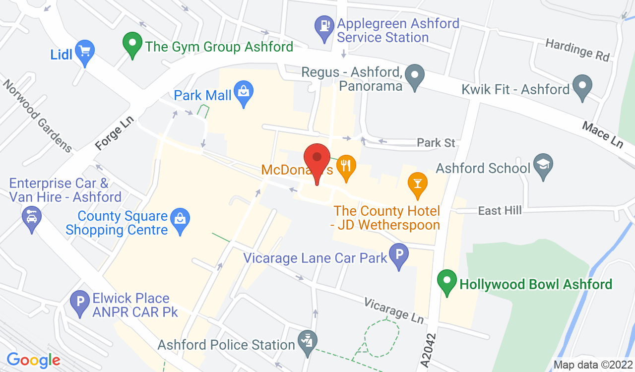 Google Map of Andrew & Co Estate Agents, Ashford, UK