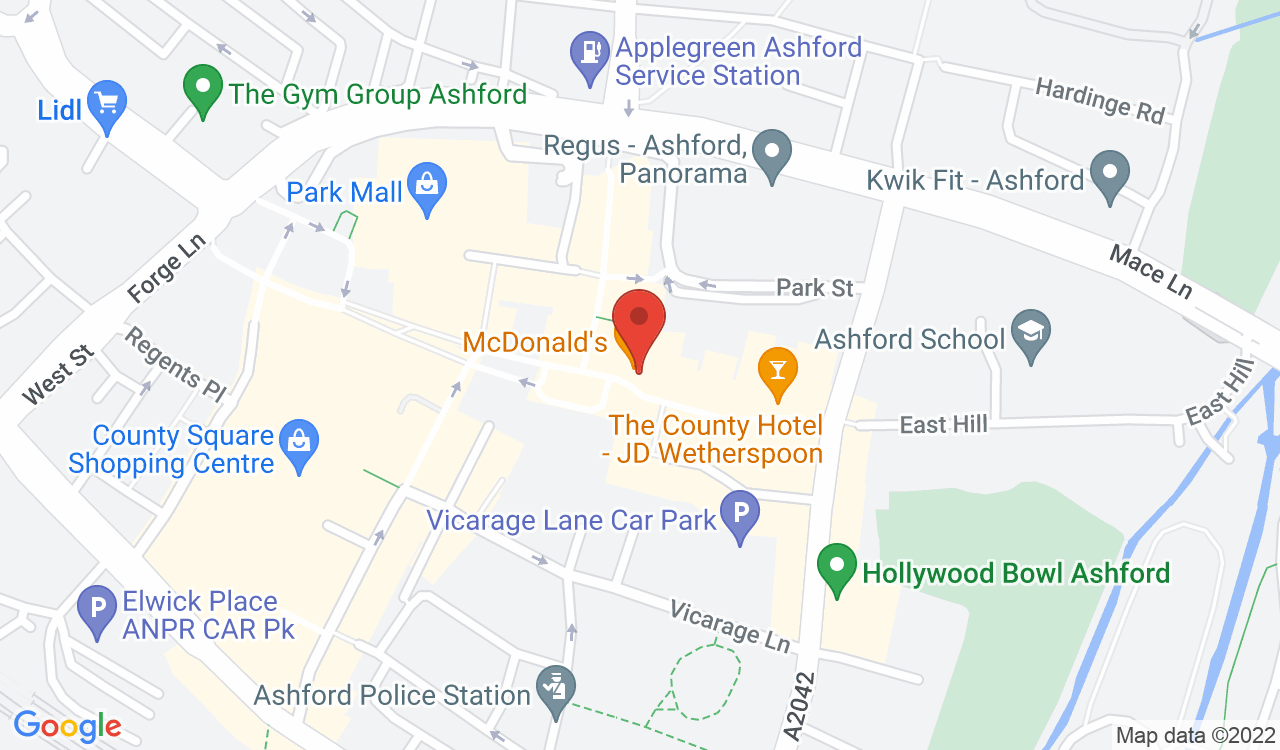 Google Map of Celly's, Ashford, UK