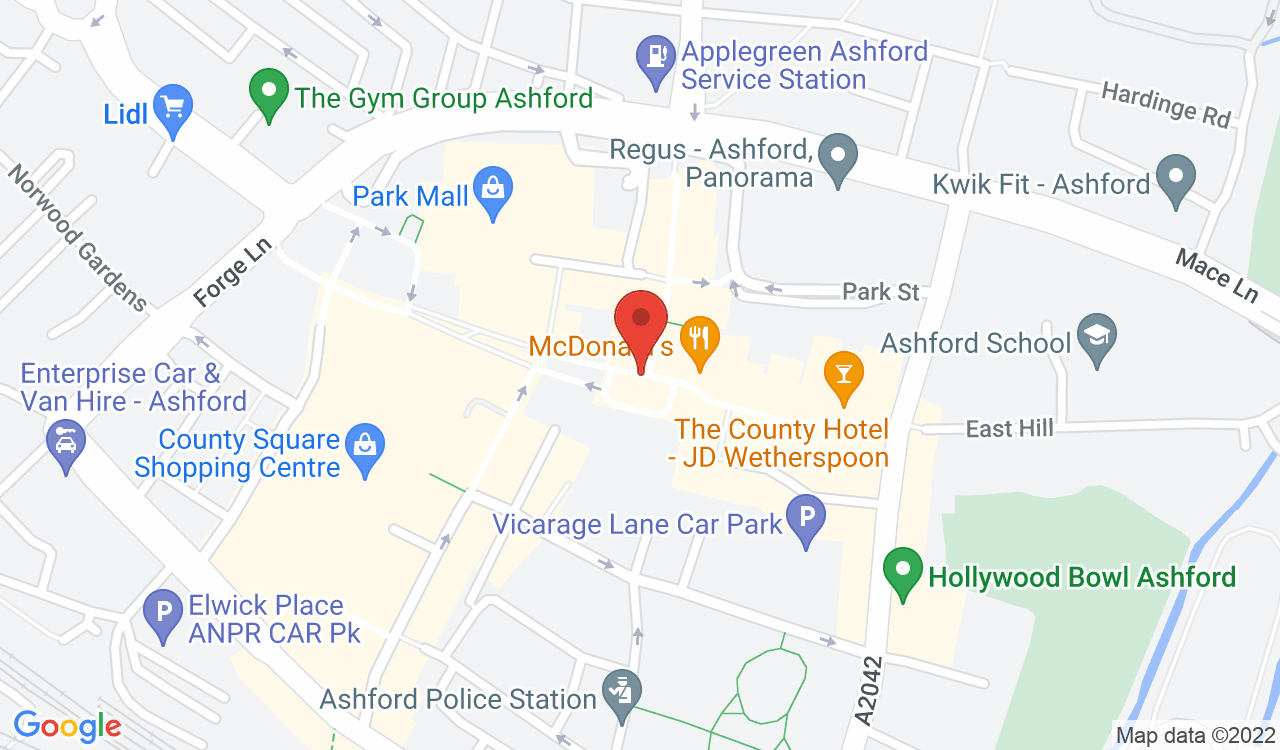 Google Map of Ward & Partners, Ashford, UK