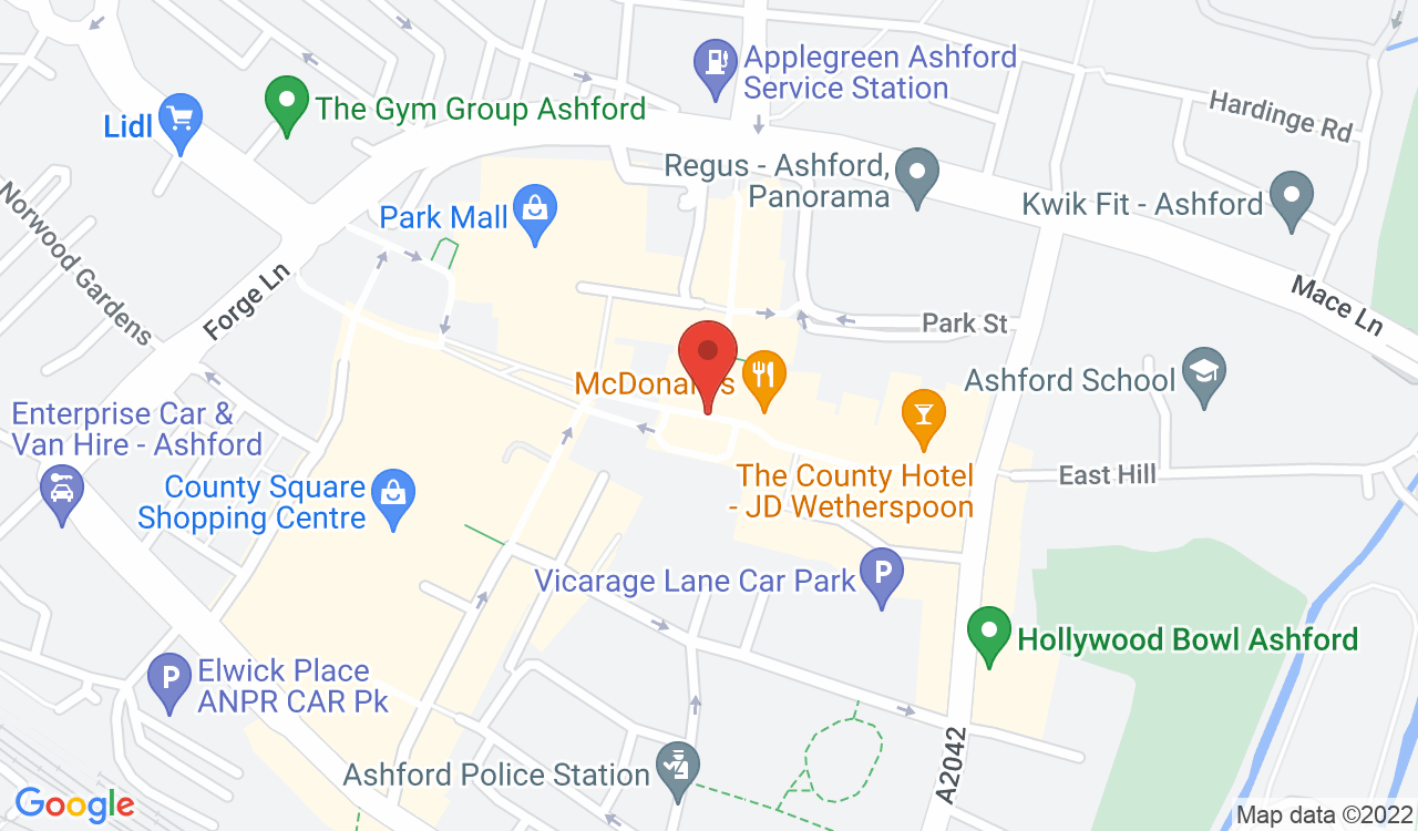 Google Map of Sports Direct, Ashford, UK