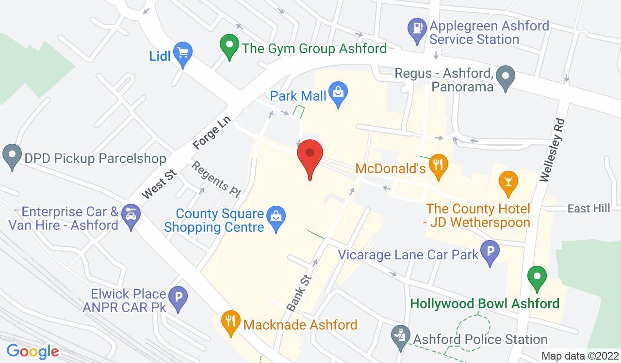 Google Map of TOPGIFT, Ashford, UK