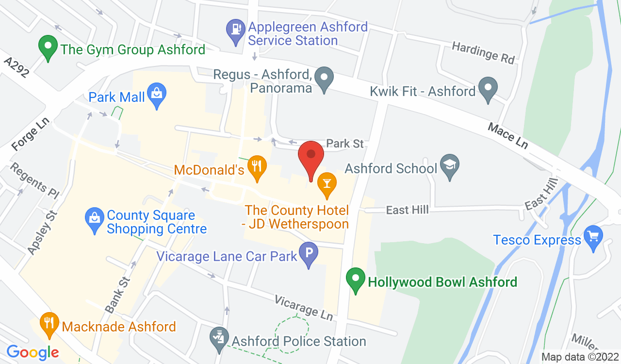 Google Map of Natwest Bank, Ashford, UK