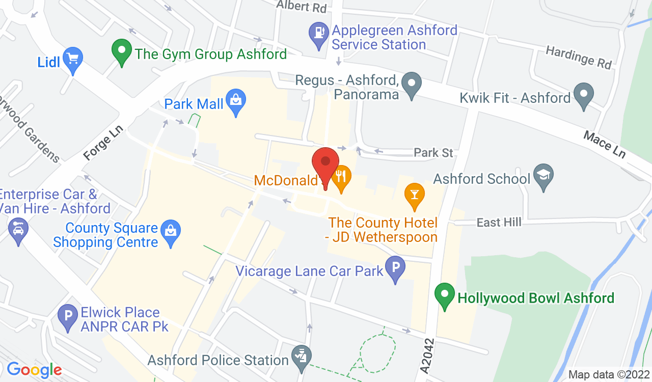 Google Map of Mr Simms Olde Sweet Shoppe, Ashford, UK