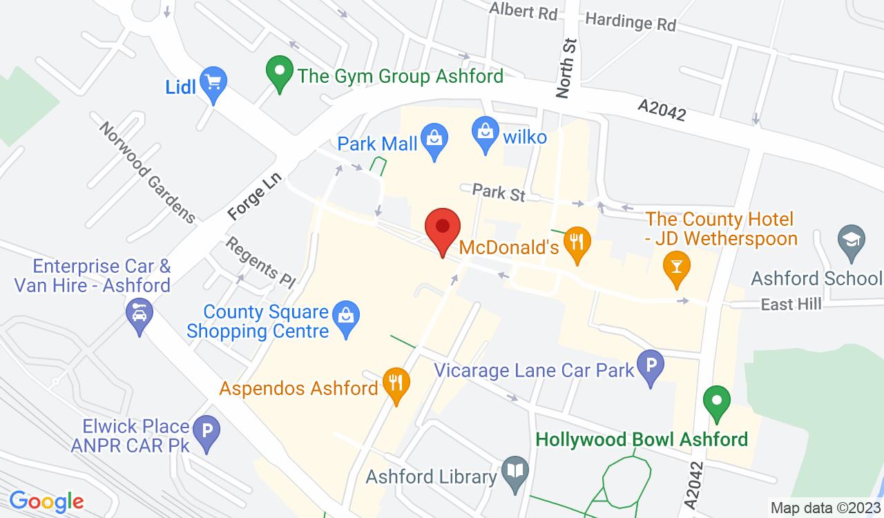 Google Map of Starbucks, Ashford, UK