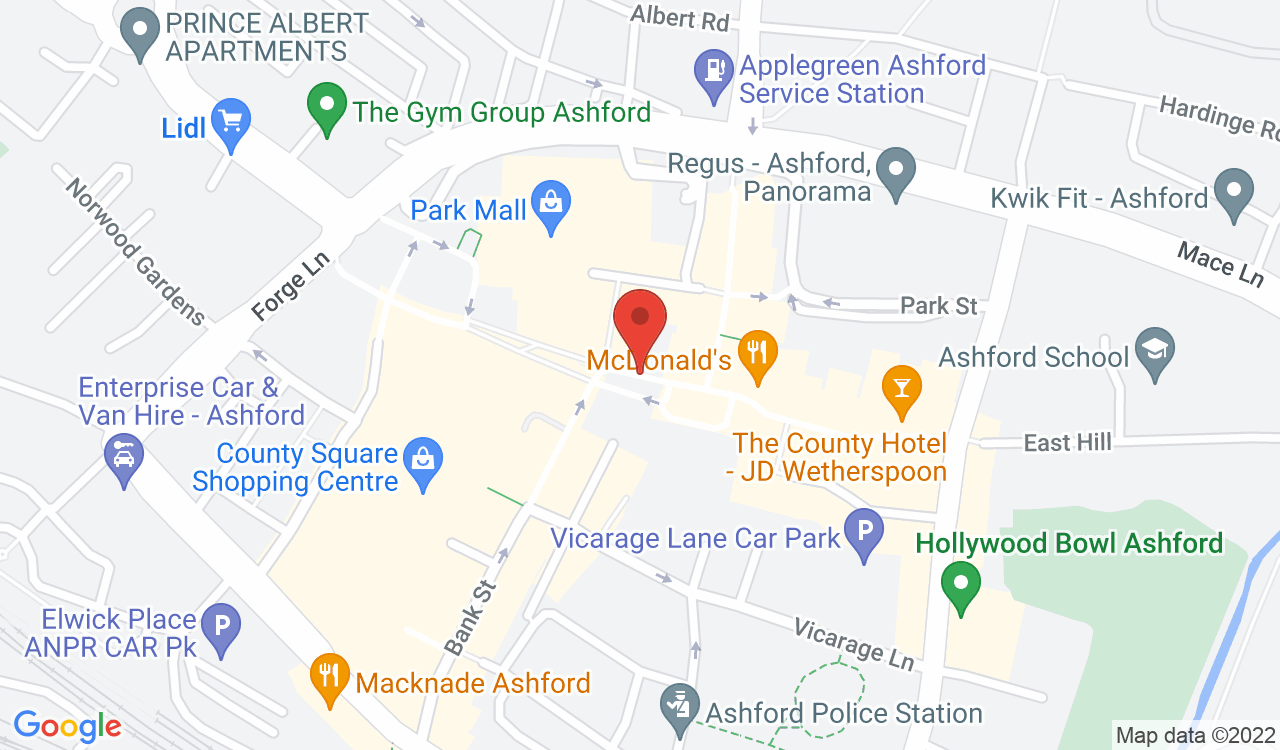 Google Map of Nutmeg Coffee Shop, Ashford, UK
