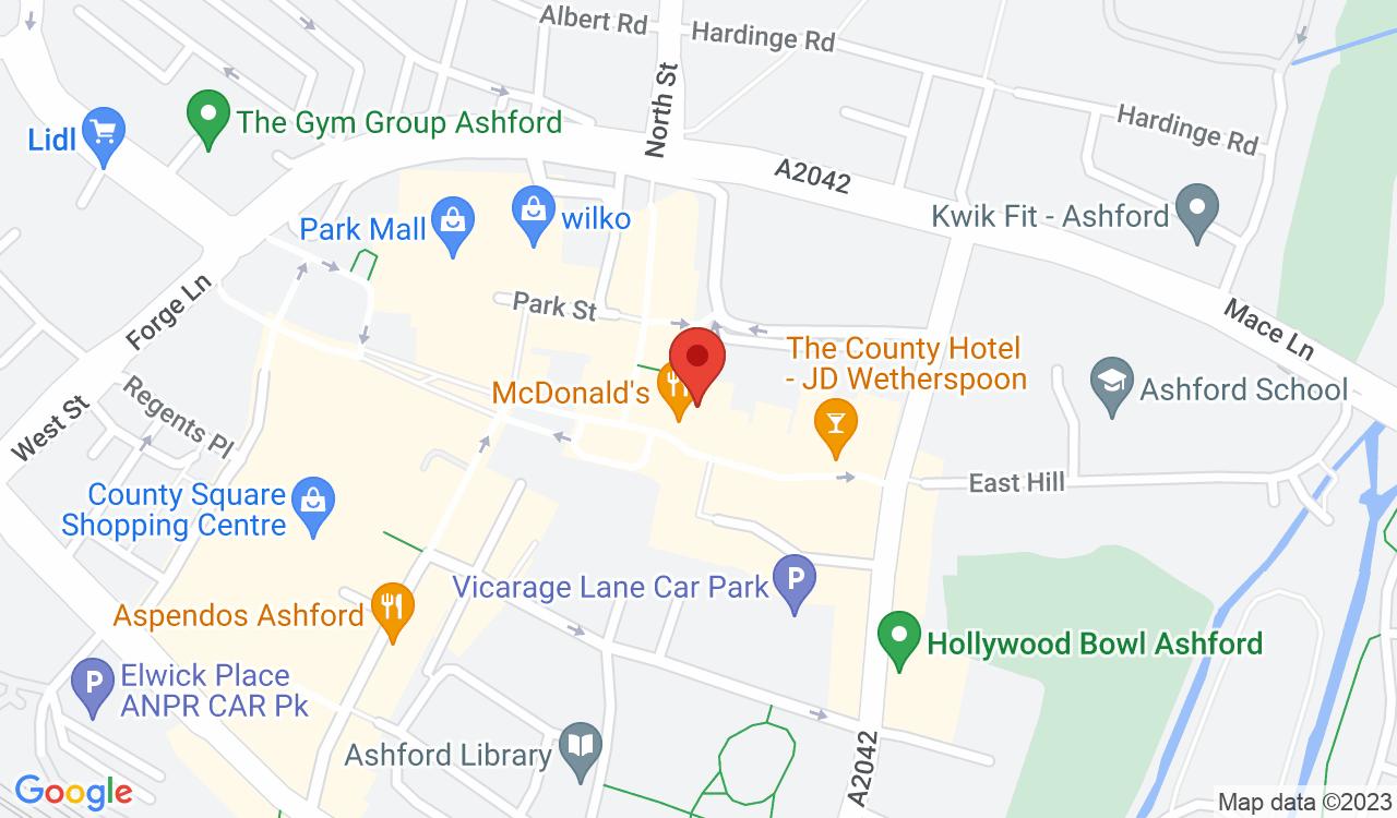 Google Map of Celly's Hairdressing, Ashford, UK
