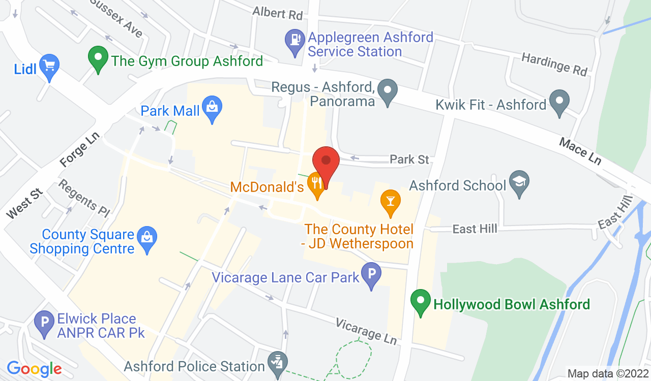 Google Map of Newcross Healthcare, Ashford, UK