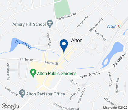 Map of 30 High Street in Alton
