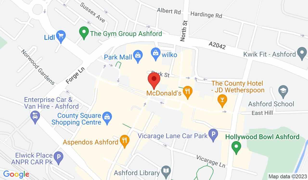 Google Map of WHSmith, Ashford, UK