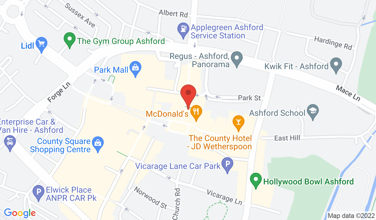 Google Map of The Beehive, Ashford, UK