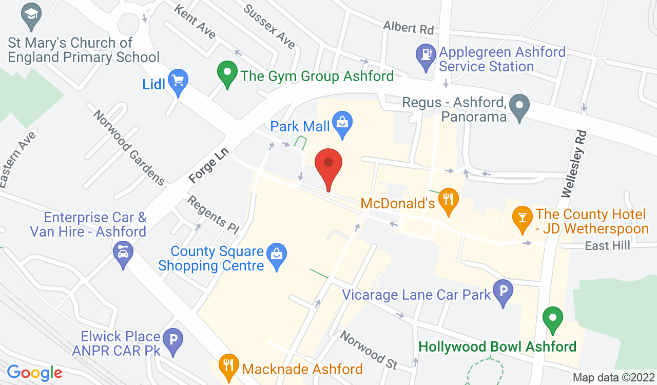 Google Map of Metro Bank Ashford, Ashford, UK