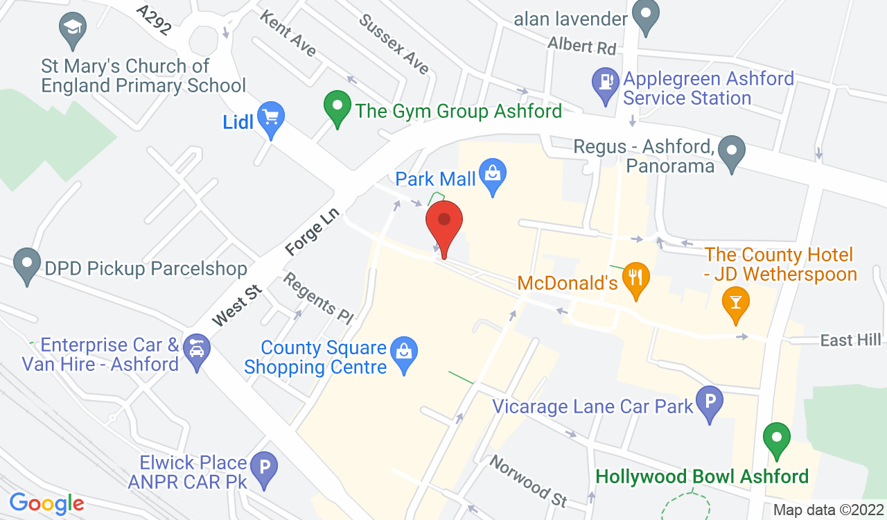 Google Map of O2, Ashford, UK