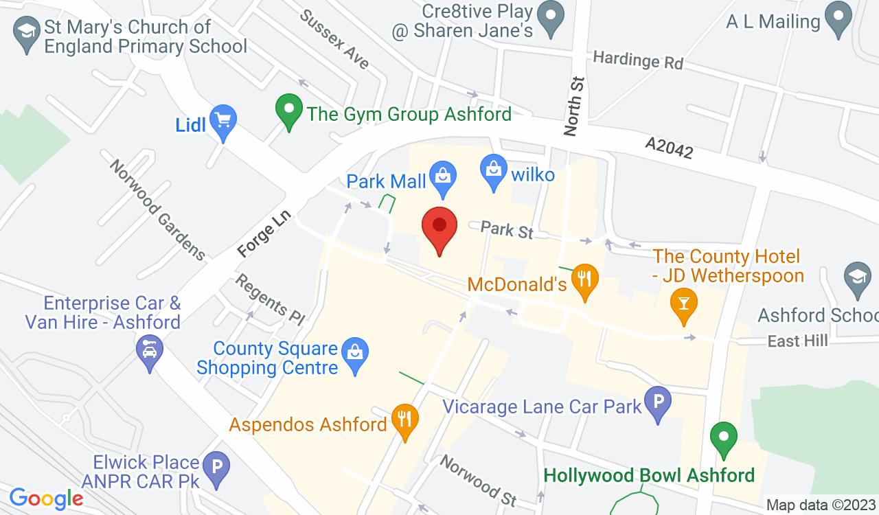 Google Map of Made In Ashford, Ashford, UK