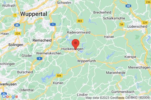 Karte Hückeswagen
