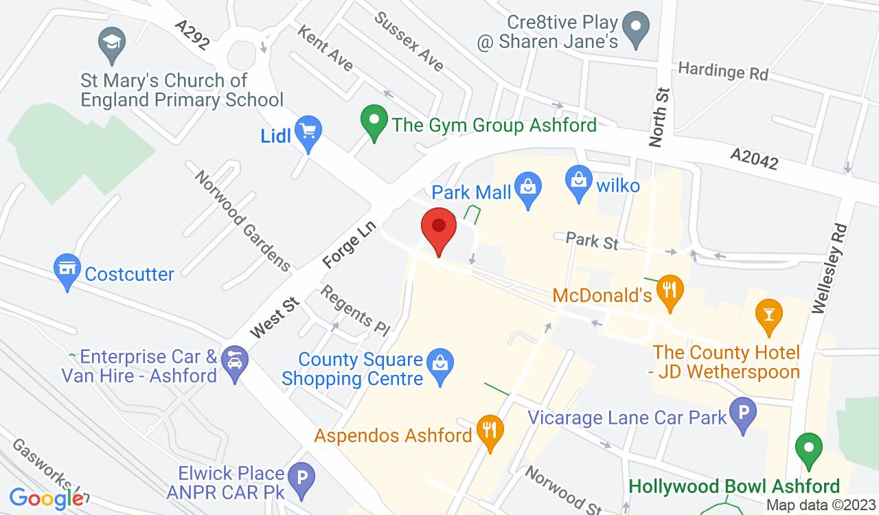 Google Map of Caffè Nero, Ashford, UK