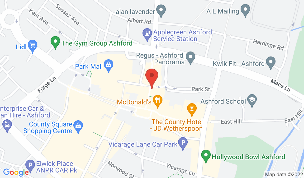 Google Map of Paper Duck World Buffet, Ashford, UK