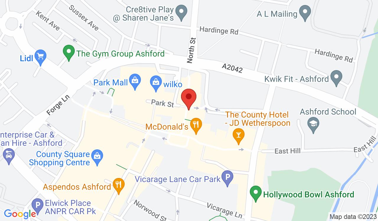 Google Map of Paper Duck World Buffet, Ashford, UK