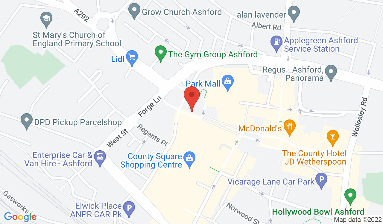 Google Map of Pressure Point Escape Rooms, Ashford, UK