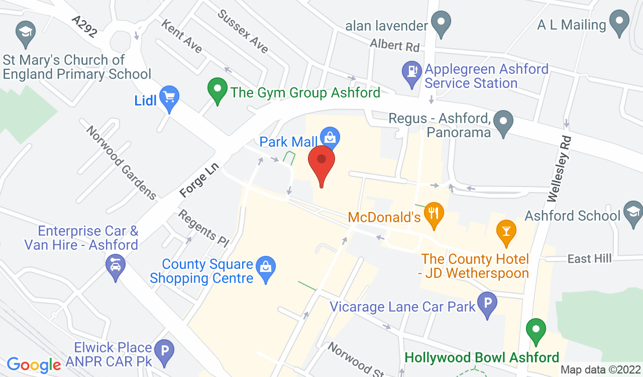 Google Map of Mobile Street, Ashford, UK