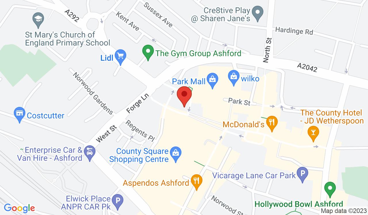 Google Map of Edge Organic Salon, Ashford, UK