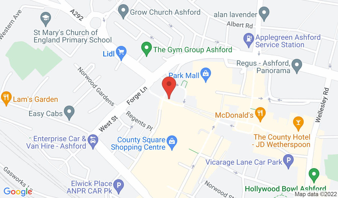 Google Map of Taylors Lettings, Ashford, UK