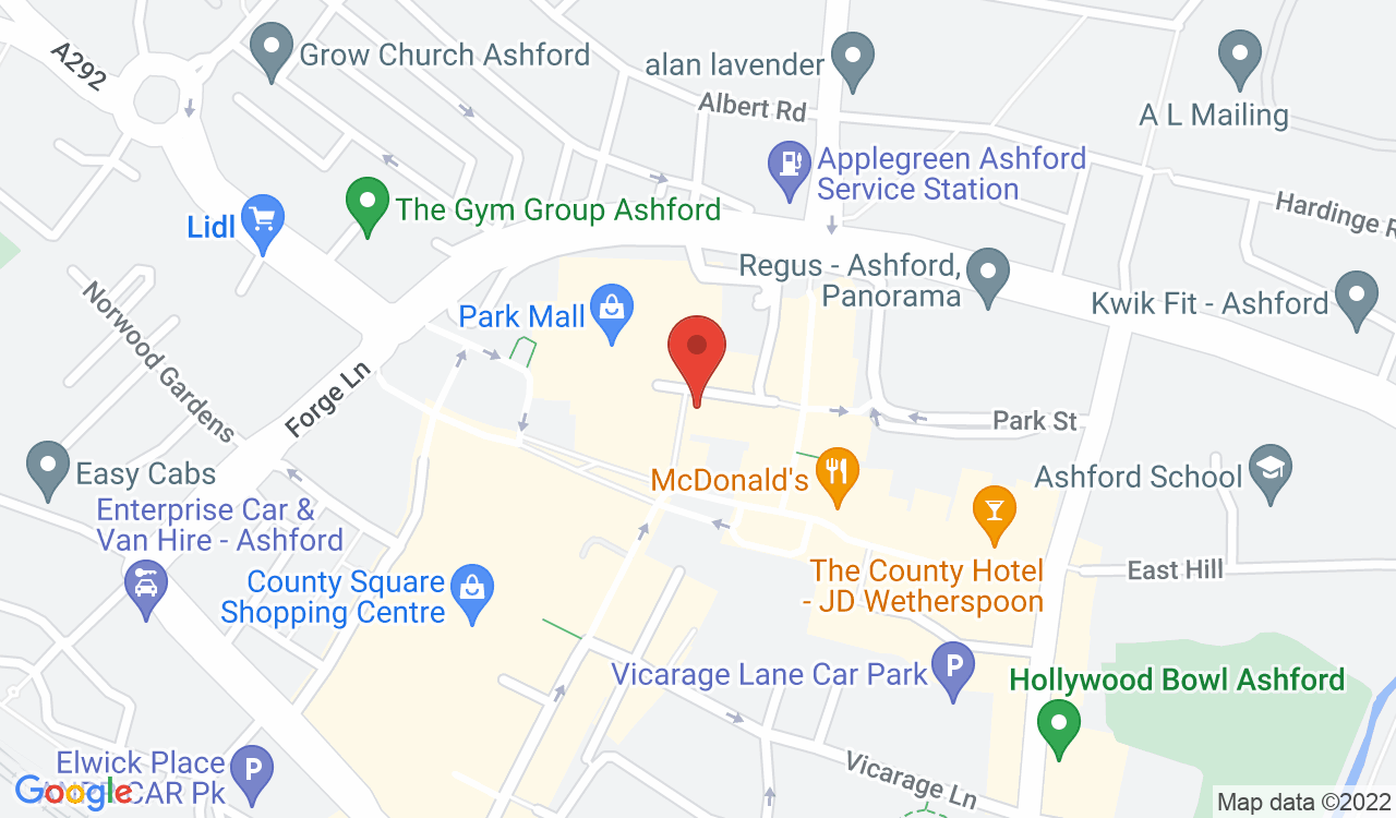 Google Map of Liv2dance, Ashford, UK