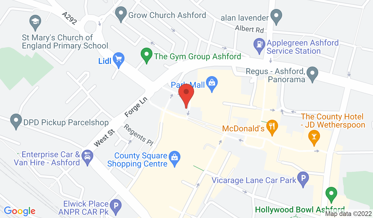 Google Map of Kent Alterations & Dry Cleaners, Ashford, UK