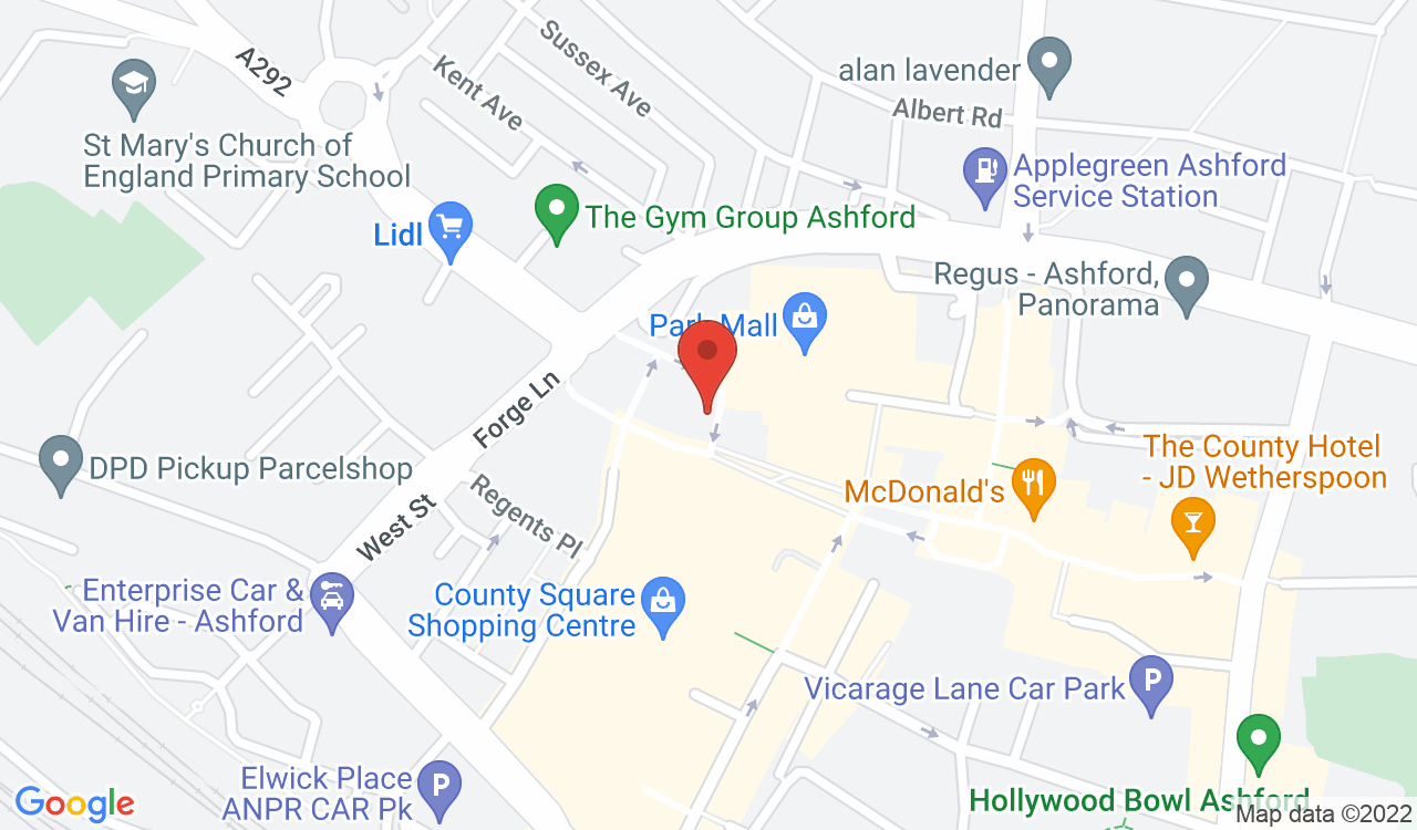 Google Map of Kelly Andrews Hair, Ashford, UK