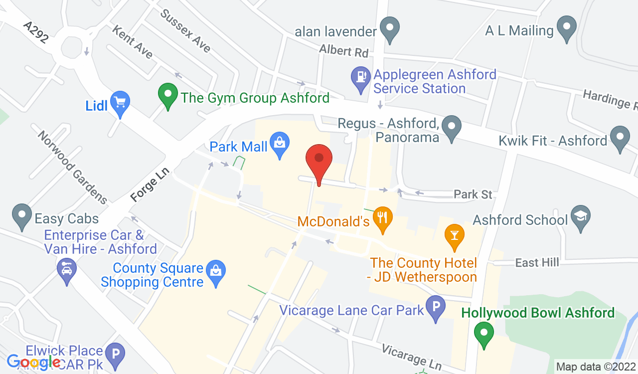Google Map of Ashford Arts Centre - KATFM, Ashford, UK