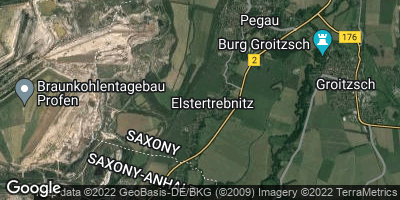 Google Map of Elstertrebnitz