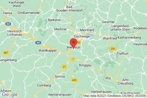 Karte Wehretal