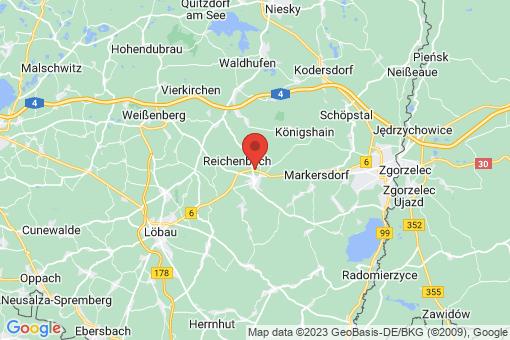 Karte Reichenbach/Oberlausitz
