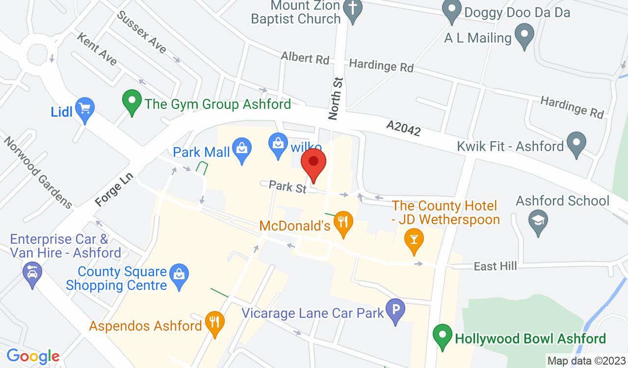 Google Map of HRGO, Ashford, UK