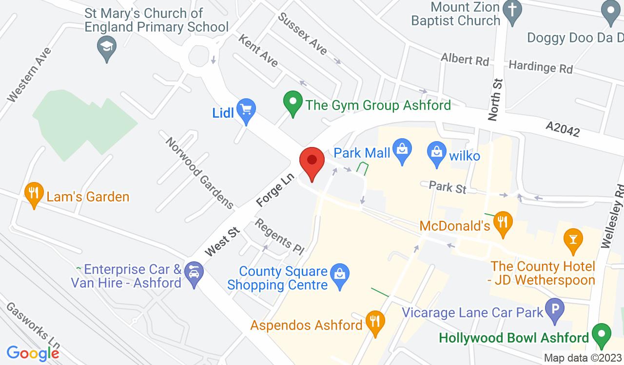 Google Map of Ashford Dental Care, Ashford, UK