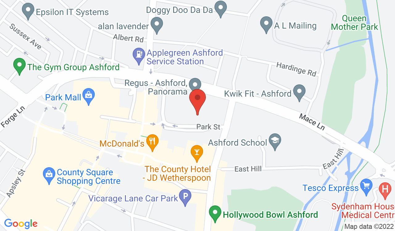 Google Map of Anytime Fitness, Ashford, UK