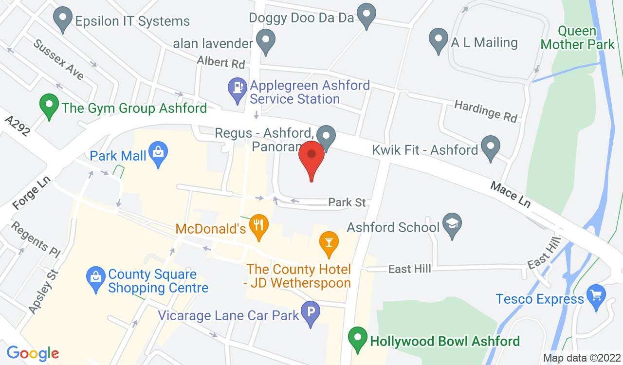 Google Map of Regus at The Panorama, Ashford, UK