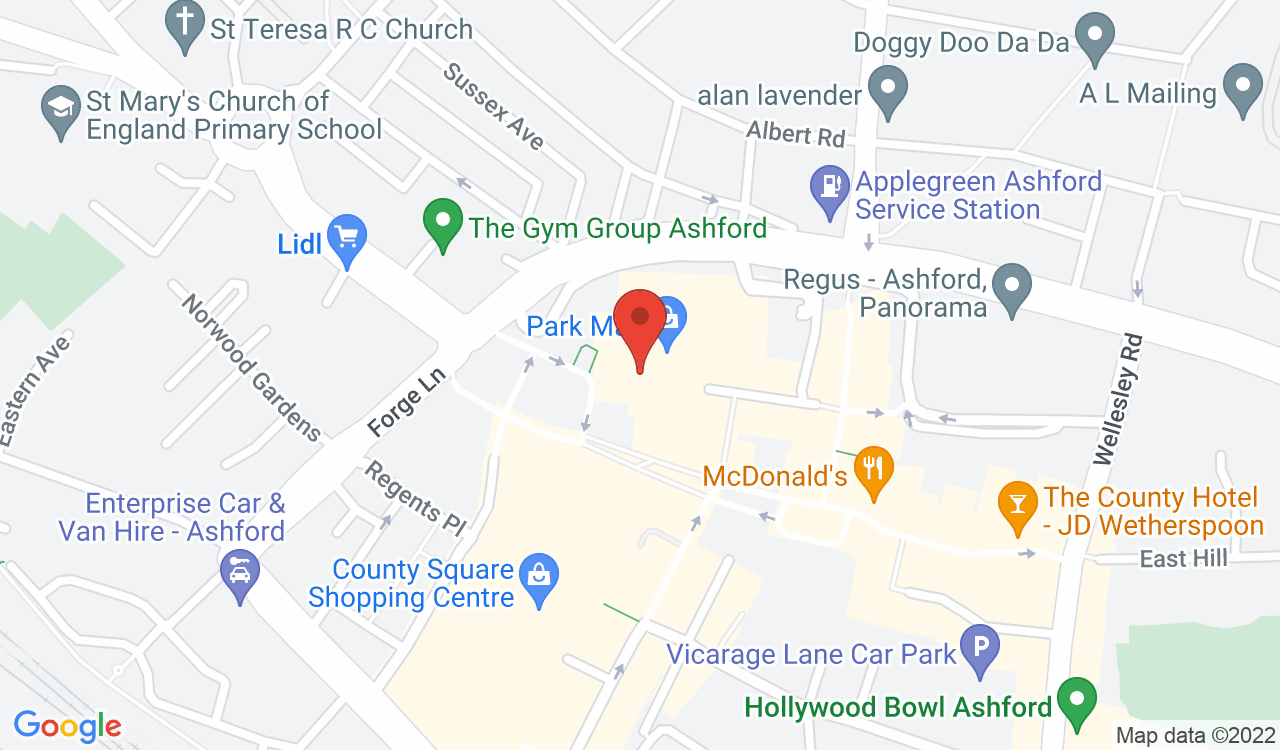 Google Map of Ashford Key Services, Ashford, UK