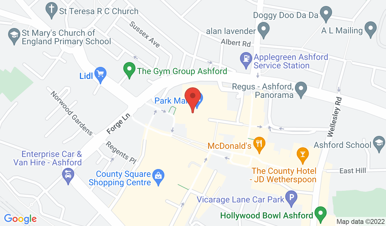Google Map of Emporia Fabric & Craft, Ashford, UK