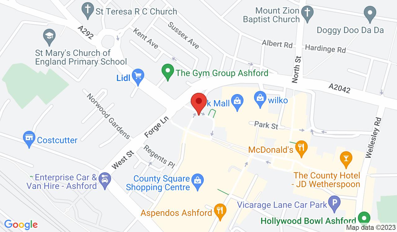 Google Map of Skin Tec Tattoo, Ashford, UK