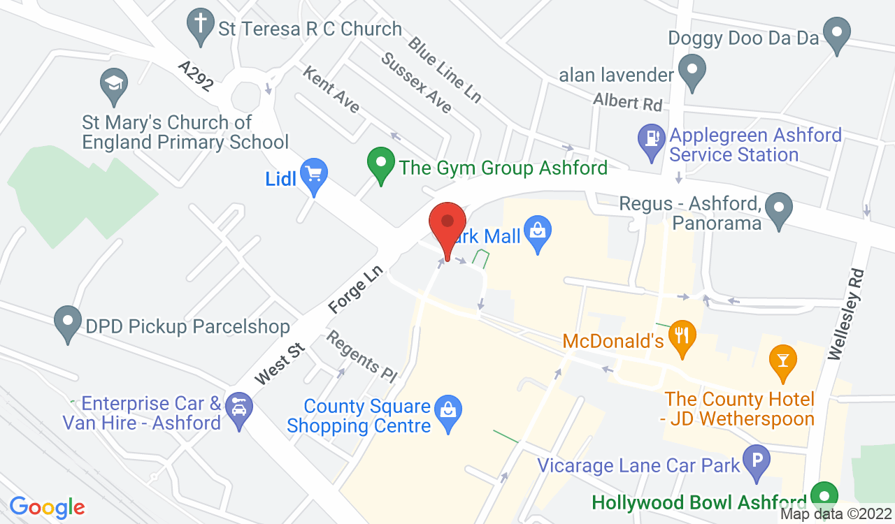 Google Map of The Pamper Rooms, Ashford, UK