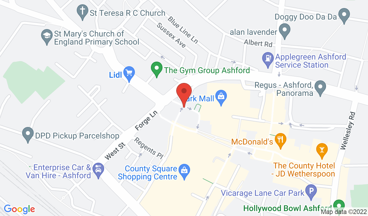 Google Map of Seekers Lettings, Ashford, UK
