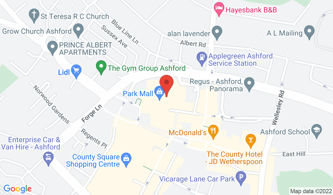 Google Map of The Record Store, Ashford, UK