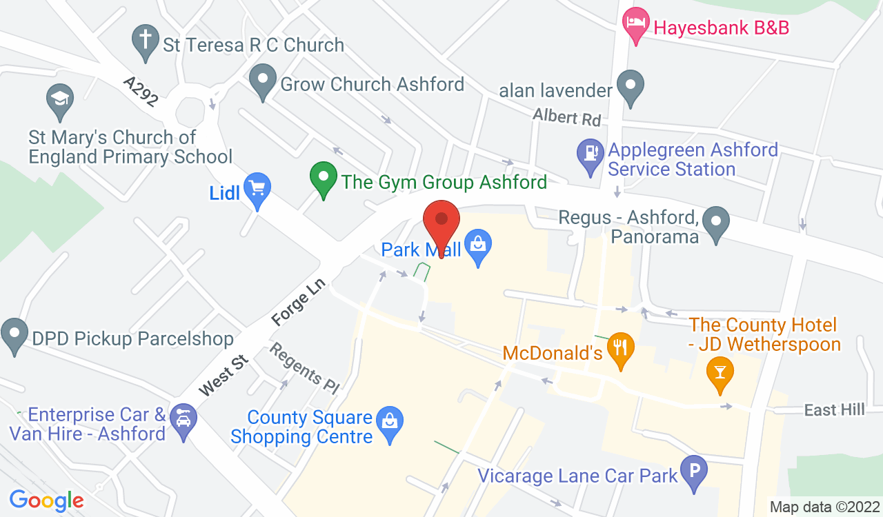 Google Map of The Little Teapot, Ashford, UK