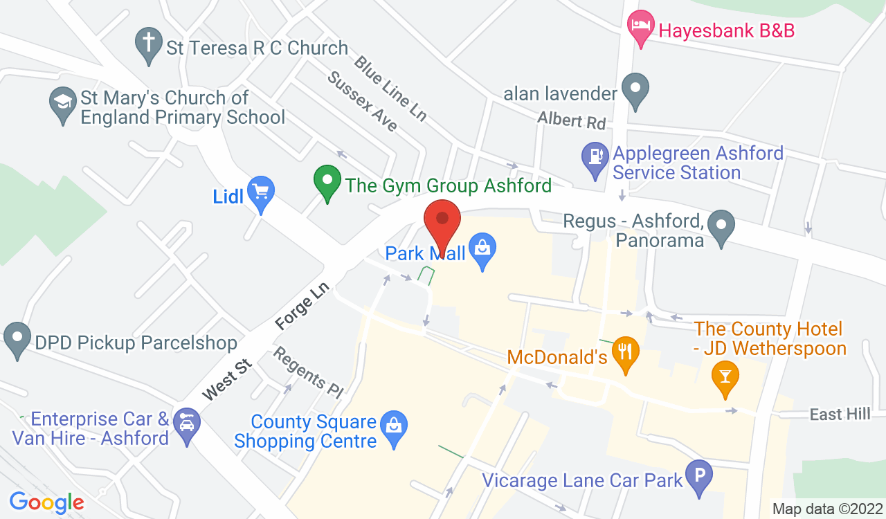 Google Map of Office Angels, Ashford, UK